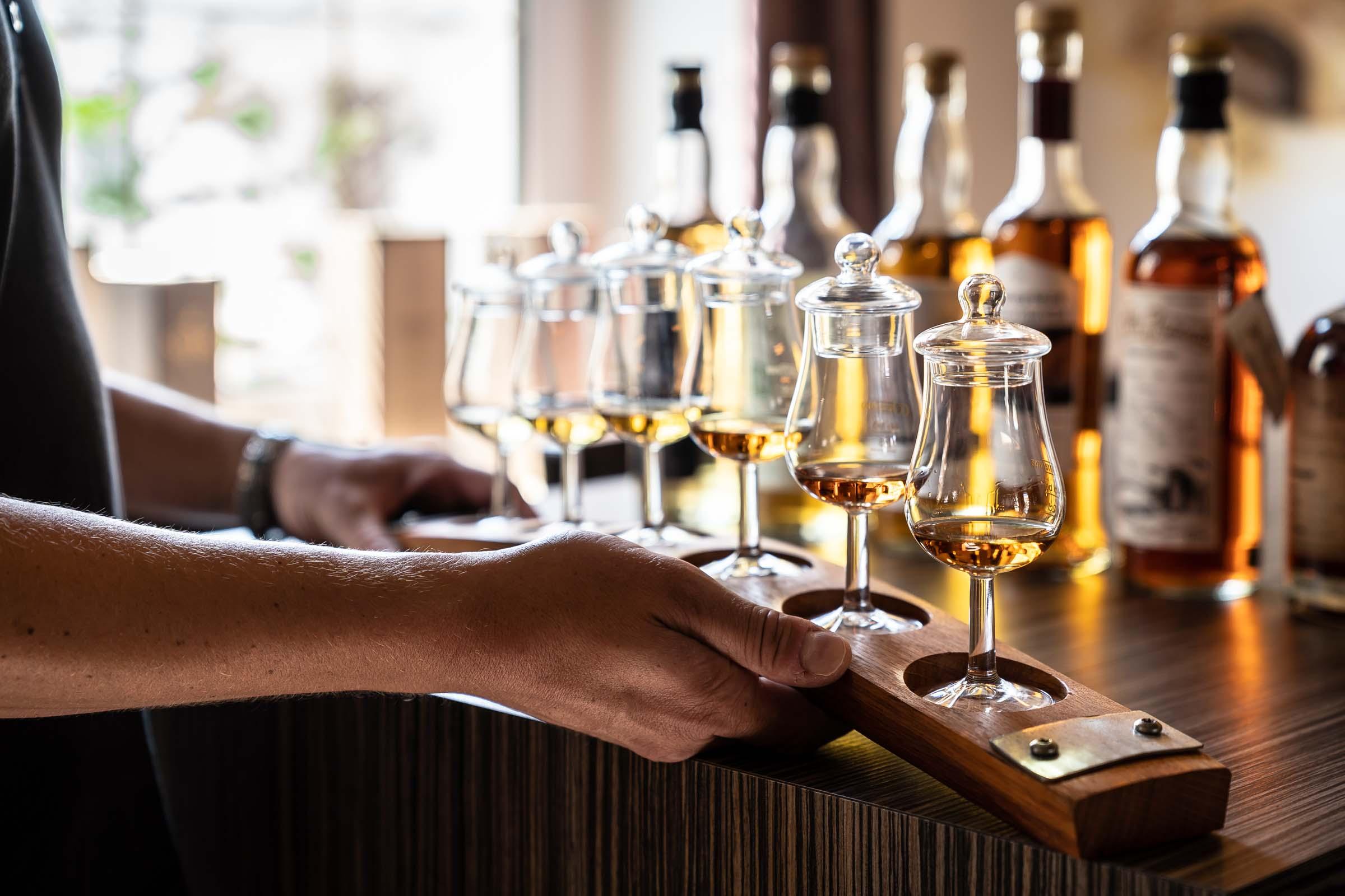 Tasting in der Xaver Bar